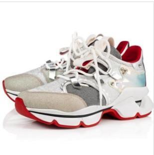 Krystal Spike Sock Donna Flat Neoprene Designer casual shoes Sneakers Mens Red Bottoms Shoes Rivet Spiky Sock Junior Spikes Red Sole Shoe 96