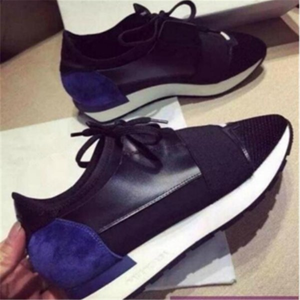 Hot Brands Casual Shoes Designer Men Women Race Runners Trainers Shoes Top Quality Leather Sneakers Platform Show Shoes