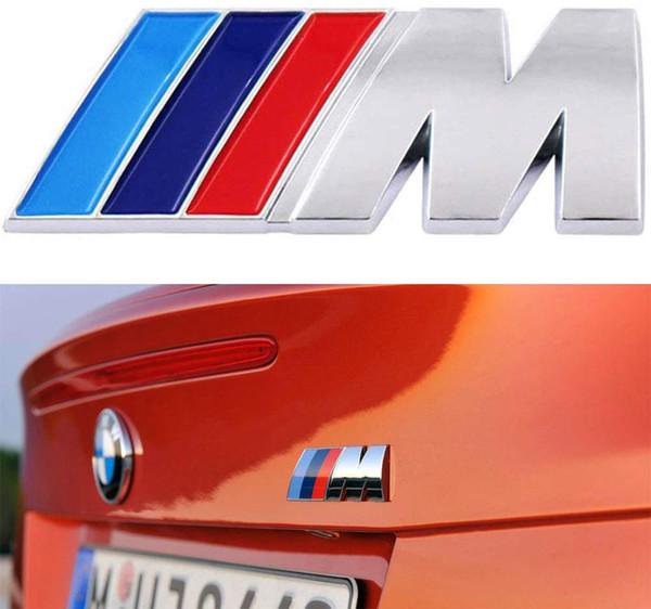 best selling BMW M Power Badge Tri Color, Rear Emblem Car Decal Logo Sticker for BMW 1 3 5 7 Series E30 E36 E46 E34 E39 E60 E65 E38 X1 X3 X5 X6 Z3 Z4