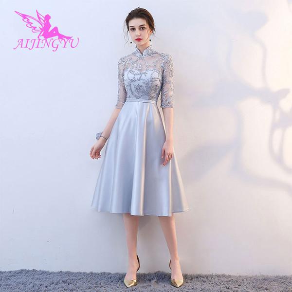 Плюс Размер Платья Невесты Короткое Свадебное Платье Bn142 J190430