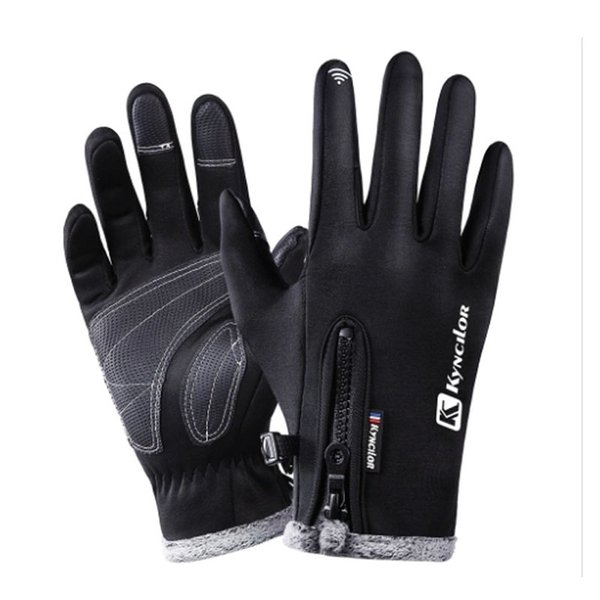 Outdoor Sports Touchscreen Bike Gloves Winter Thermal Windproof Full Finger Cycling Gloves Anti-slip Bicycle Gloves for Men Women