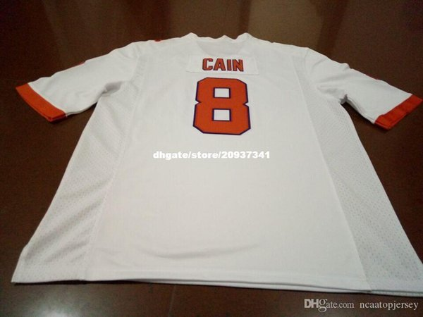 Cheap Men Clemson Tigers #8 Deon Cain Mike Williams Top high quality Orange White College Jersey or custom any name or number jersey