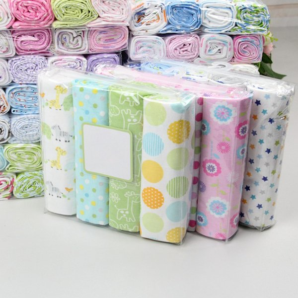 4Pcs/Lot 100% Cotton Flannel Baby Swaddles Soft Newborns Blankets Baby Blankets Newborn Muslin Diapers Baby Swaddle Wrap