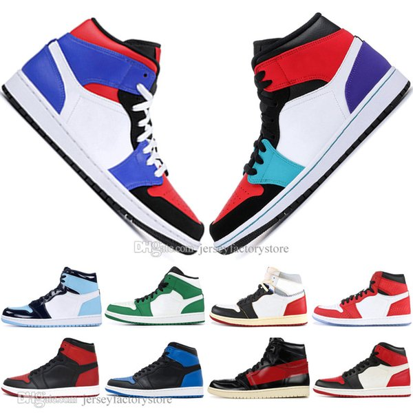 New 1 OG Banned Bred Toe Black Spider-Man UNC 1s top 3 Mens Basketball Shoes NO For Resale Couture Royal Blue Men Sports Designer Sneakers