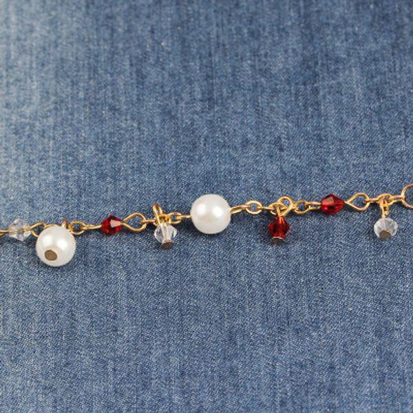 Pearl Charm Bracelet for Women Girls Gold Chain Pendant Sailor Moon Japan Europe US Fashion Wrist Jewelry Awesome Bangle K3612