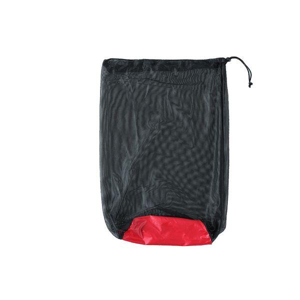 Venta caliente Portátil Bolsas Stuff Al aire libre Saco de dormir Bolsas de almacenamiento visual Camping Acampar Malla de viaje de gran tamaño Stuff sacos