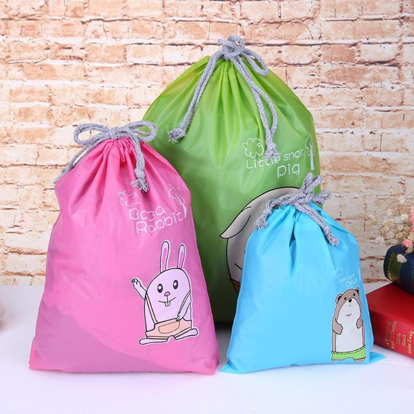3 Sizes Oxford Cloth Storage Bag Dust Bag Handbag Travel Sundries Storage Kids Toys Travel Shoes Laundry Lingerie Makeup Pouch