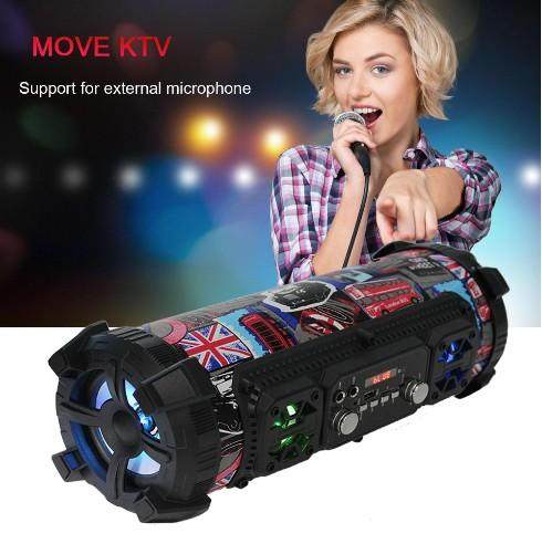 20W Hifi Portable Bluetooth Speaker FM Radio Move KTV 3D Sound system Sound bar subwoofer Portable Column Bluetooth Speakers FM radio LLFA