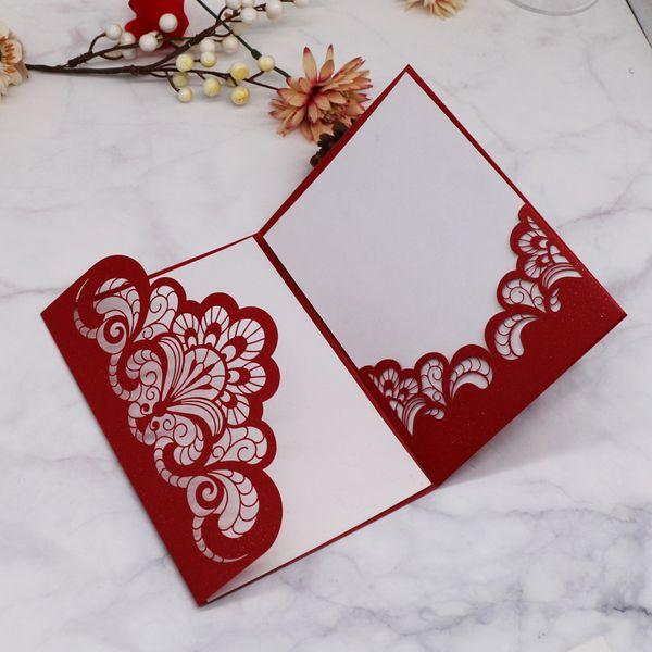 Wedding Invitation Cards Envelope Design Sample Luxury Pearl Paper Invitation Card Festival Ceremony Celebration Business Supplies Fun Wedding