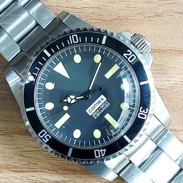 2019 uhr für herren comex vintage orologio # 5514 asien bewegung automatische mechanische uhren edelstahl mode herrenuhr armbanduhr