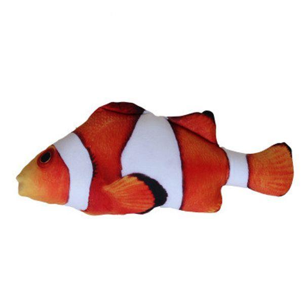 150PCS Soft Plush 3D Fish Shape Cat Toy Interactive Gifts Fish Catnip Toys Stuffed Pillow Doll Simulation Fish Playing Toy