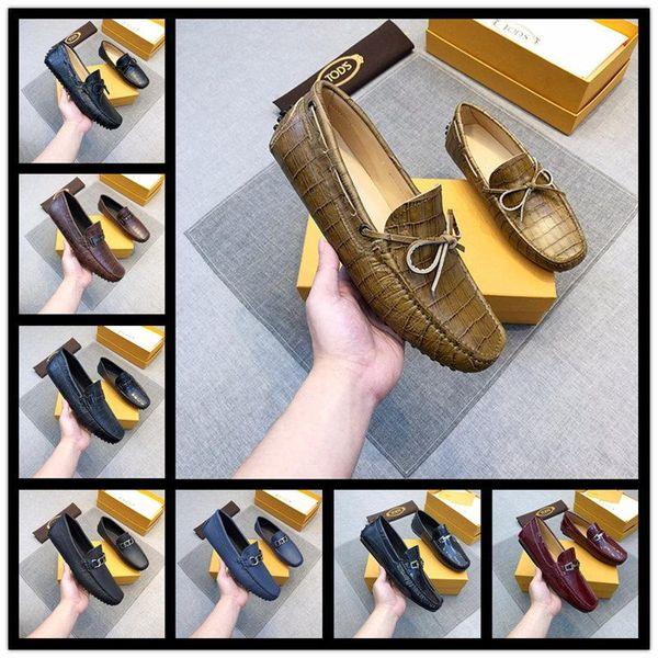 18ss NUEVOS zapatos de boda Diseñadores de lujo Mocasines con fondo rojo Zapatos de vestir de negocios, charol negro loubiflat para siempre 38-45