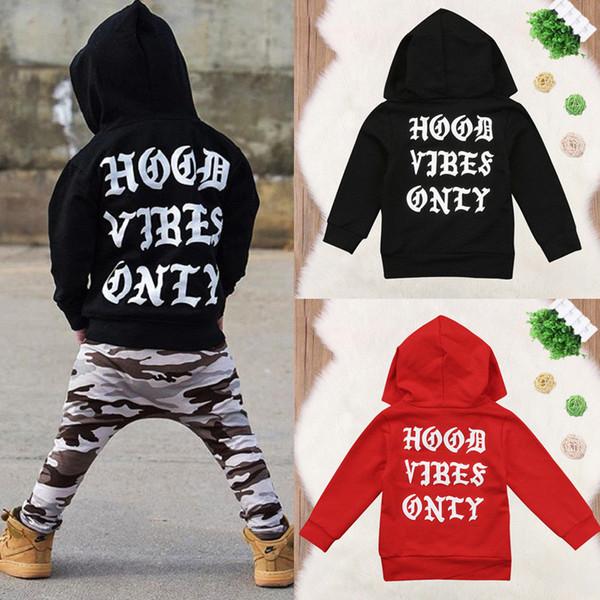 Bebek Erkek Giysileri Toddler Yenidoğan Erkek Bebek Kız Hoodie Kız erkek için Kapüşonlu Kazak Açık hoodies sweatshirt Tops