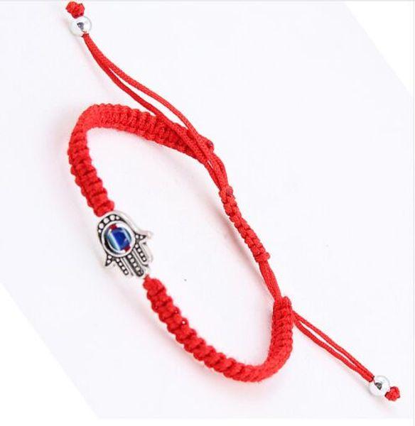 20pcs/lot Lucky Kabbalah Red String Thread Hamsa Bracelets Blue Turkish Evil Eye Charm Women Handmade Friendship Jewelry