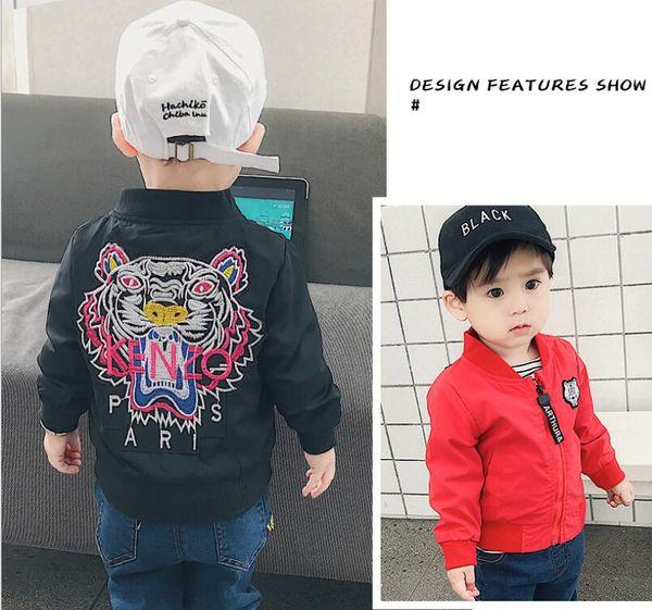 top popular Spring Autumn Jacket New Arrival Clothing Baby Boys Coat Cartoon Printed Flight jacket Autumn Kids Outerwear Children Clothes 2019
