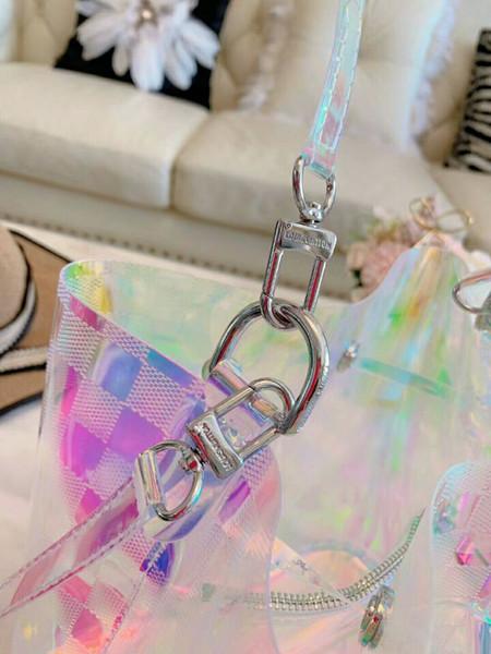 Lazer mektup cluth çantası zincir kadın parti düğün çanta temizle şeffaf açık seyahat çantası depolama kadın lazer telefonu çantası v1