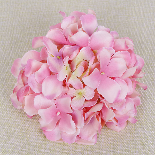 50pcs per pack wedding and events decor floral artificial silk hydrangea flower head in 5 colors