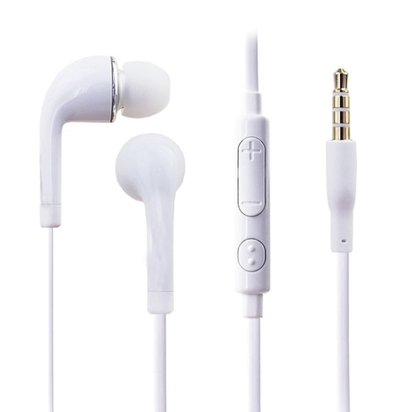 Factory Price Wire Earphone 3.5mm In-ear Headphones With Microphone Headset Hifi Music Earbuds Stereo Gaming For Android IOS Phone