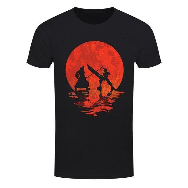 T-shirt Cloud Vs Sephiroth Men's Black mens pride dark t-shirt white black grey red trousers tshirt suit hat pink t-shirt