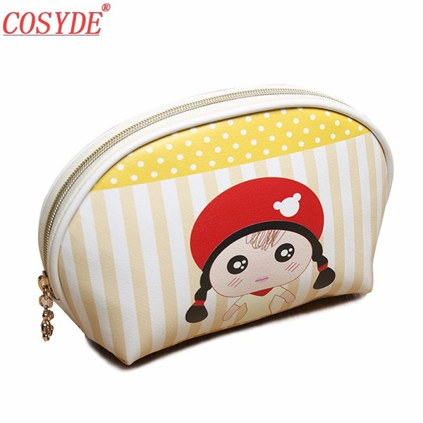 Lady Animal PU Leather Women Cosmetic Bag Waterproof Small Travel Porable Makeup Handbag Make Up Case Pouch Organizer Wash Bags