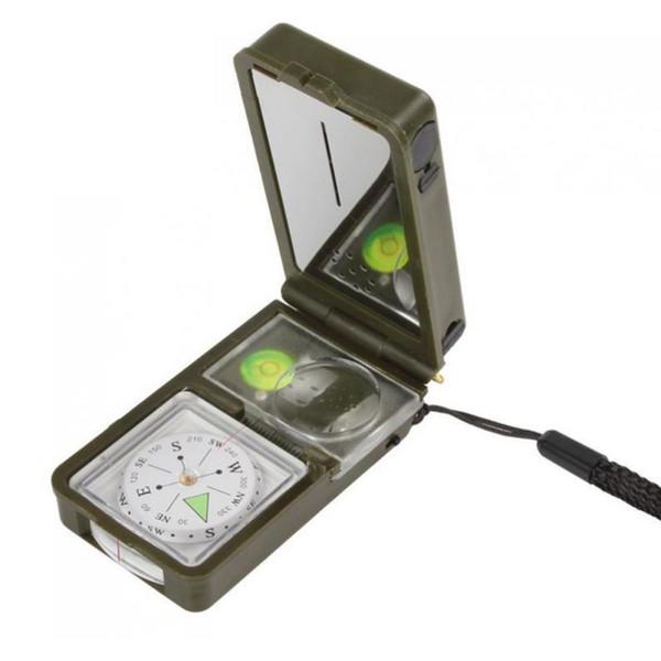 Supervivencia al aire libre Camping Senderismo Brújula Kit de herramientas Combinación Compass Kit 10-en-1 multifunción