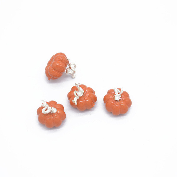 50pcs/lot DIY Jewelry Colorful Enamel Halloweem Pumpkin Charm Pendant Earrings Necklace Pendants Jewelry Accessories 10*11mm