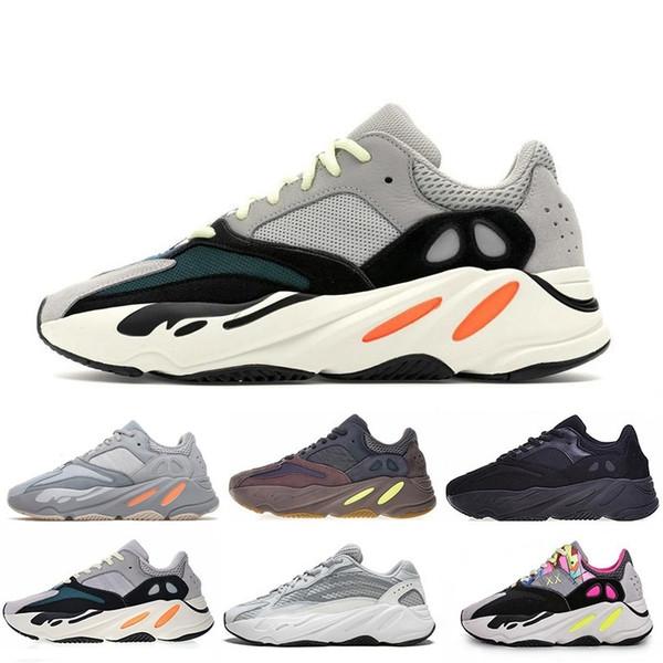 2019 Onda Corredor Mauve Kanye West Wave Estático Sapatos Das Mulheres Dos Homens Preto Branco Azul Cinza designers homens Atletismo