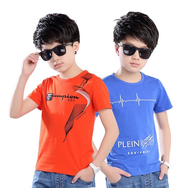 New 2019 Baby Boys T Shirt Short Sleeve Soft Children TShirt Cotton Tops tee Cartoon Clothes Kid age 3 4 5 6 7 8 9 10 T-Shirts