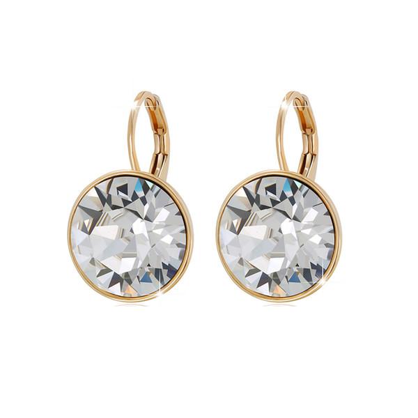 Top Quality Fashion Bella Stud orecchini per le donne realizzati con Swarovski Elements Crystal Wedding Party Bijoux gioielli regalo di Natale
