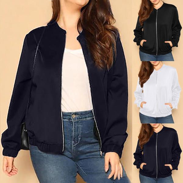 Manteau à manches longues zippé à manches longues pour femmes