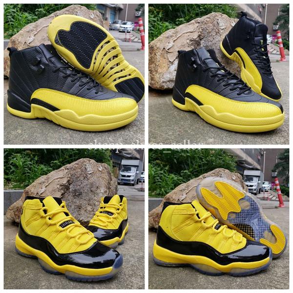 2019 Nouveau Creepers Bumblebee 11 12 chaussures Jaune Hommes Chaussures de basketball sportif formateur Sneakers 11s 12s designer paniers femmes taille de chaussure US7-13