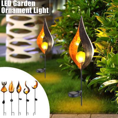 LED Flame Lamp Solaire Sol Lumières Étanche Pelouse Lampe Jardin Décor En Plein Air Cour Scène Ornements Solaire Alimenté Lumières De Chemin