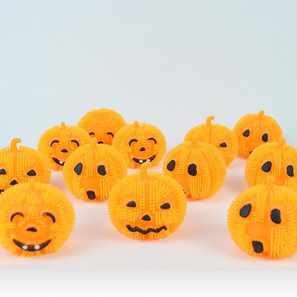Giocattoli di Halloween a LED Illumina la palla antistress a forma di palla Rilascio di palla Giocattolo di compressione Bambini magici Halloween Plastica Arancione Giocattolo Ornamenti per feste rave