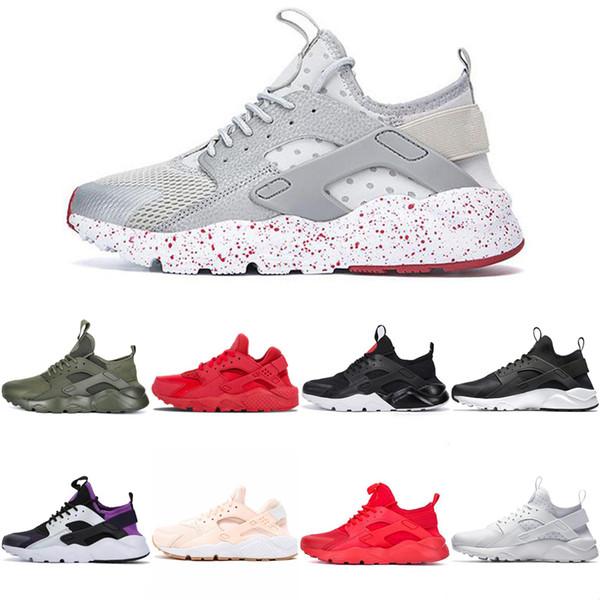 2019 Triple White Huarache 4.0 1.0 Zapatos para correr TODO Negro Clásico rojo para hombre para mujer Huarache Zapatillas Huaraches Trainers zapatillas deportivas 36-45