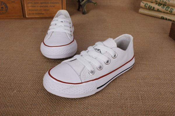 New Kids Shoes Sneaker Fashion Simple Canvas Leisure Boys and Girls Athletic Running Sport Shoes European size 23 - 31