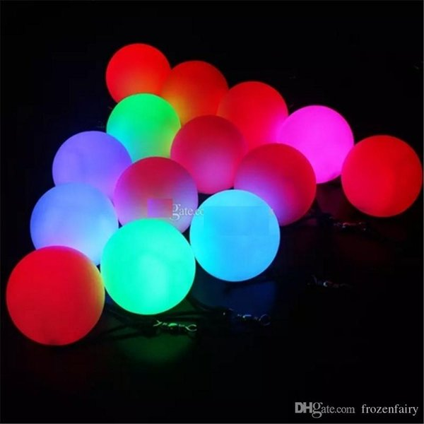 8cm LED POI Thrown Balls For Professional Belly Dance Level LED Hand Props Dance Costumes Accessories Flash Color Change Throw Balls bb18-22