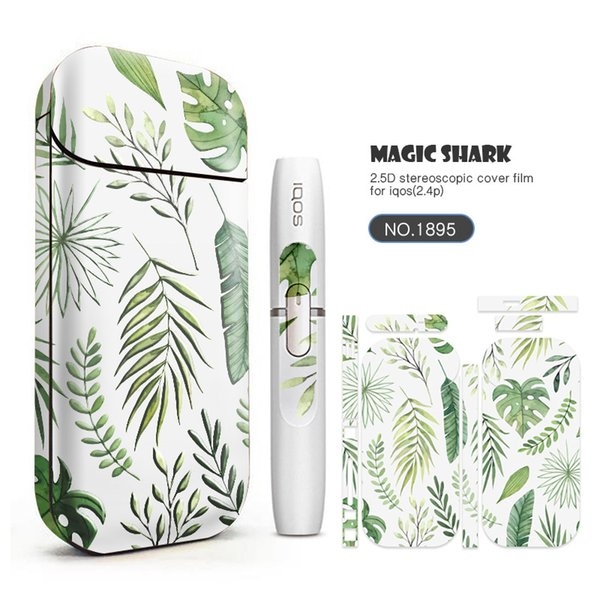 20 Designs Sticker Cases Cover Sleeve for IQOS 2.4plus Starter Kit and USB Charger Vape Pen Mod Protective Film Stickers