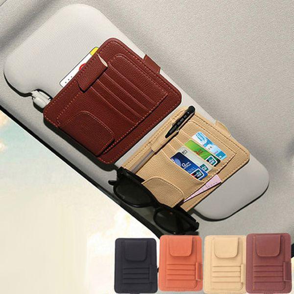 Auto Car Sun Visor Organizer Storage Bag Card Holder Multifunctional Pen Sunglasses Umbrella Stowing Tidying 2018