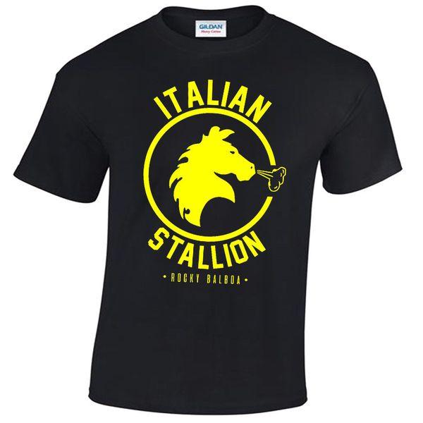 CAMISETA DE MENS STALLION ITALIANO ROCKY BALBOA BOXING GYM TRAINING TOP FANCY DRESS 2018 New Men tee 2018 fashion T-Shirts Summer short sleeves