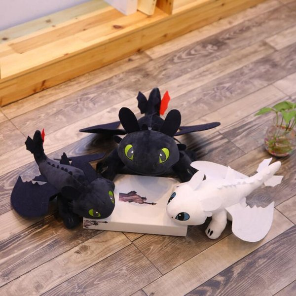 35cm How to Train Your Dragon 3 Plush Toy Movie Toothless Light Fury Dragon Stuffed Animals Christmas Gifts CA11349-1 60pcs