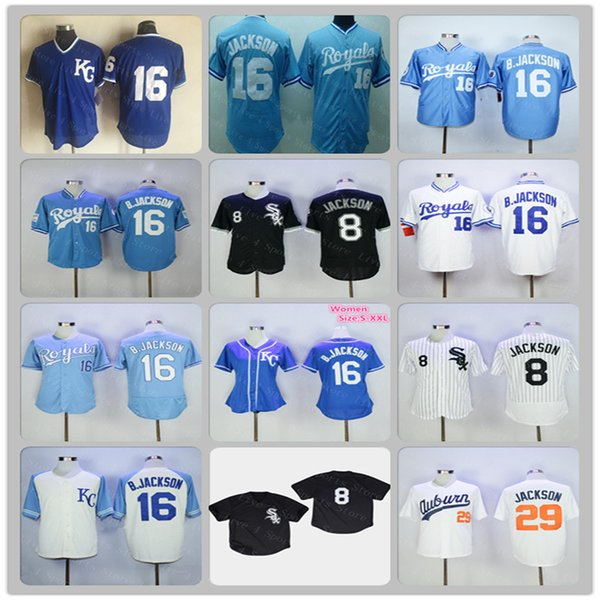sale retailer b4b7c f549a 2019 Men'S Throwback KC Royals Bo Jackson Jersey Blue Black Grey Stitched  White Sox 8 B.Jackson Chicago Baseball Jerseys Cheap From Gemma_yong, $18.5  ...