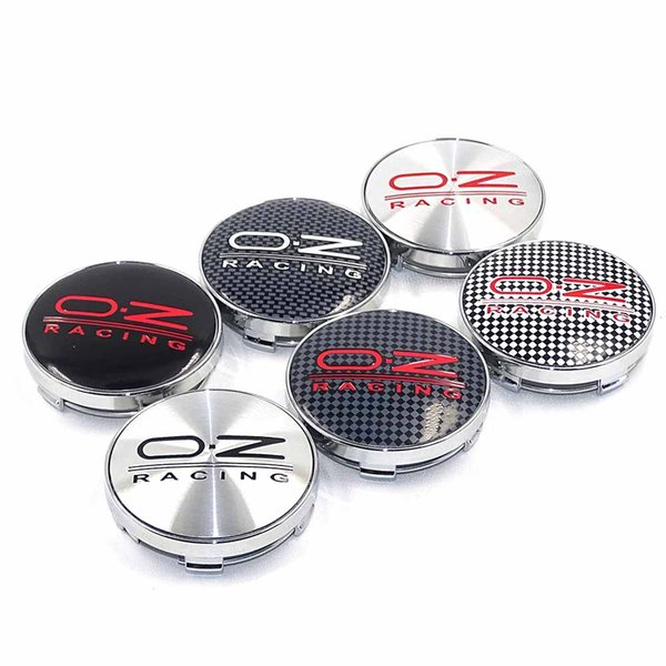 56/60 / 68mm Para OZ Racing Car Badge Emblema Etiqueta Rueda de coche Cubierta central Tapa Hub Hub para Octavia Fabia Superb Auto AccessoriesEnvío gratuito