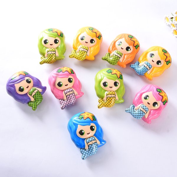 9styles Mermaid children Decompression Toys Jumbo Simulated slow-rebound Mermaid Printed Cute Animal Girl Model kid gift party favor FFA2239