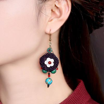 Classical pendant national style jewelry retro Chinese style decorative Earrings cold long temperament Earrings