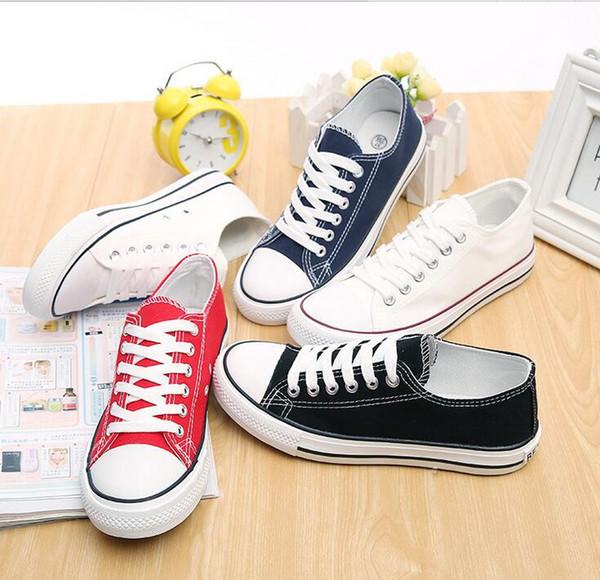 printemps et automne Livraison gratuite nouveau couple chaussures en toile classique chaussures casual étudiant de la mode femmes hommes chaussures