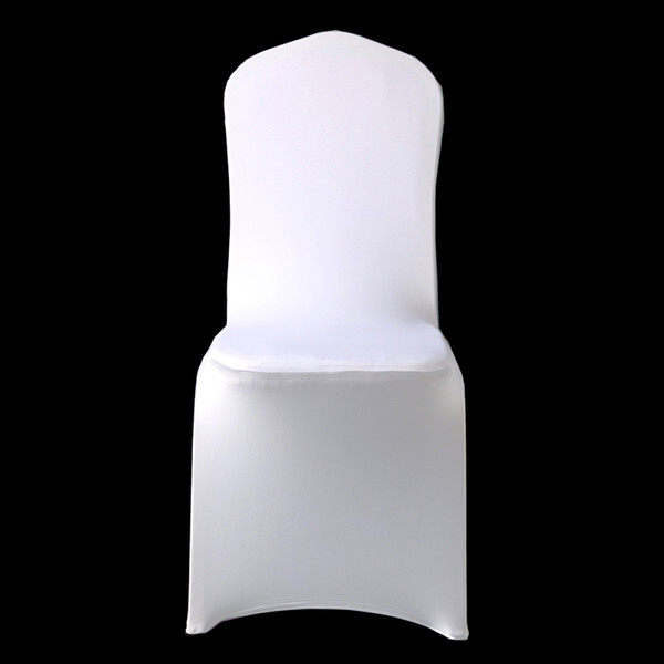 100Pcs Cheap Hotel White Lycra Spandex Chair Cover Wedding Party Christmas Banquet Dining Office Stretch Polyester Chair Covers