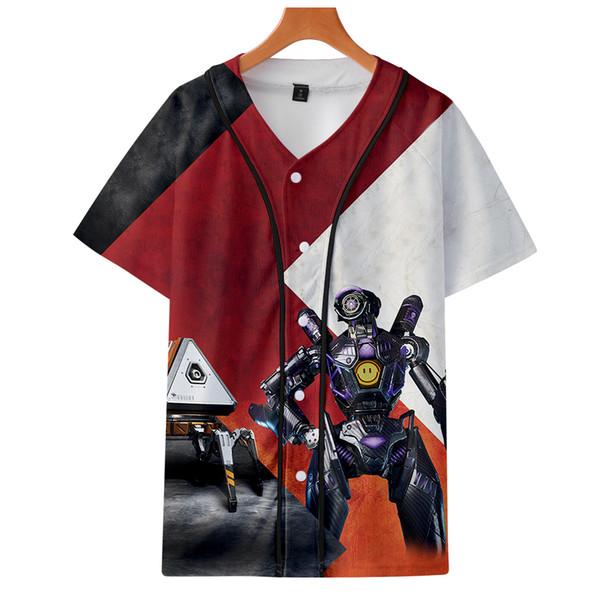 Kısa T-shirt 3D beyzbol elbise giyim aikooki Çocuklar üstleri baskı pamuk t-shirt karikatür giyim unisex Kısa Kollu Yaz Tee