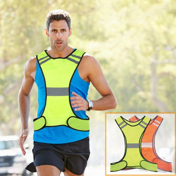 Reflective Safety Vest Night Running Cycling Walking Sports Gear High Visibility Gilet For Adults Children With Pocket #281857