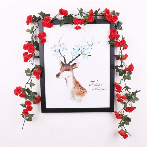 Fuentes de la boda falso simulado artificial Rose seda de la vid de ratán Pipe