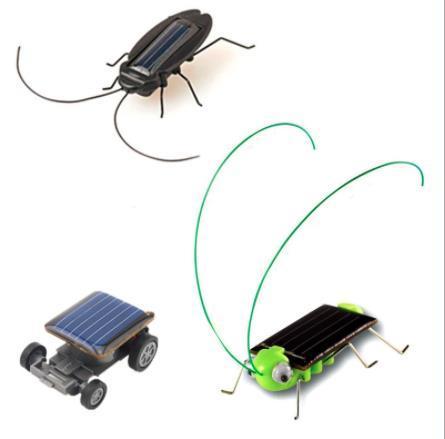 Saltamontes solar ciencia juguetes regalos creativos regalo de la novedad insectos solares, arañas cucarachas coche